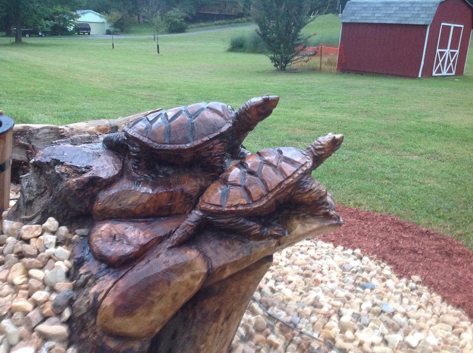 AM Sculptures- Turtle Stump