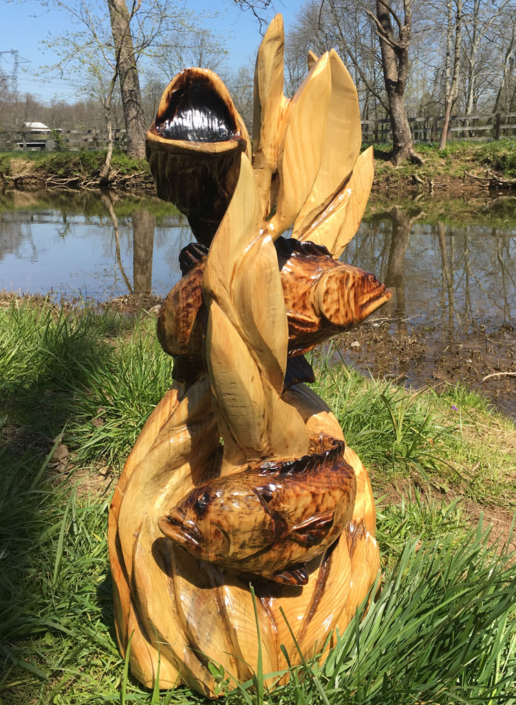 AM Sculptures- Open Mouth Bass