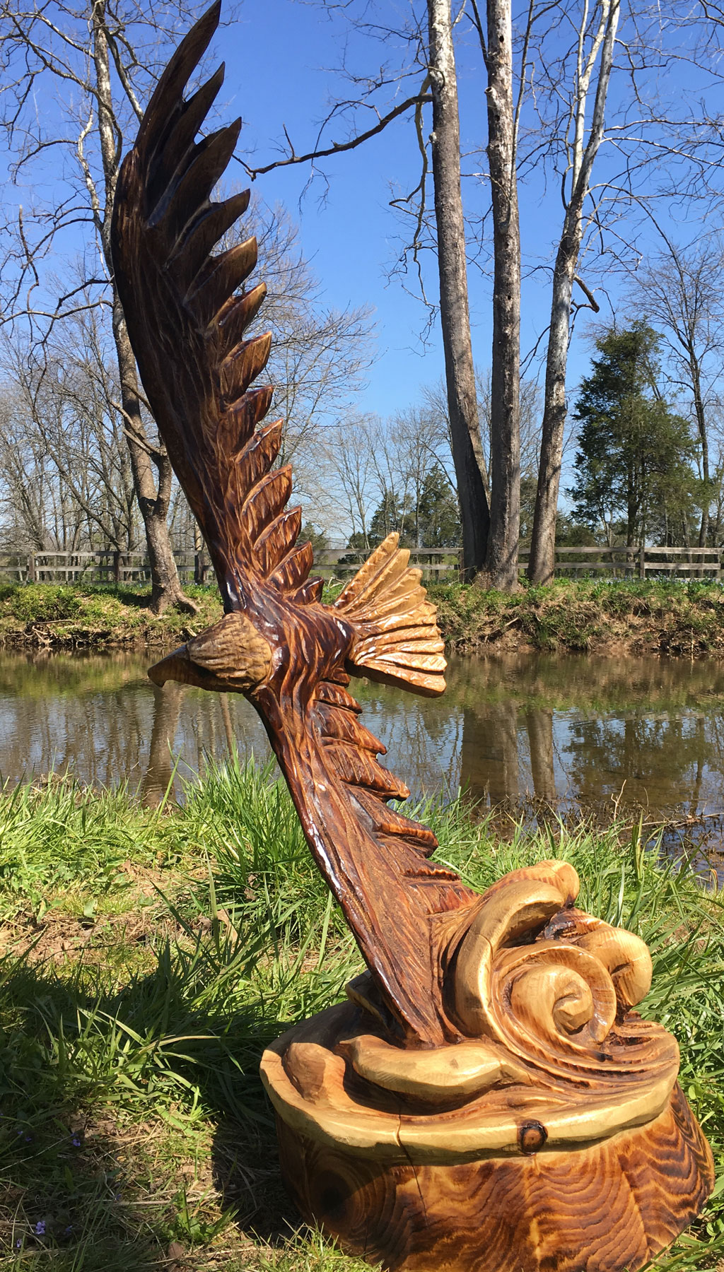 AM Sculptures- Soaring Eagle