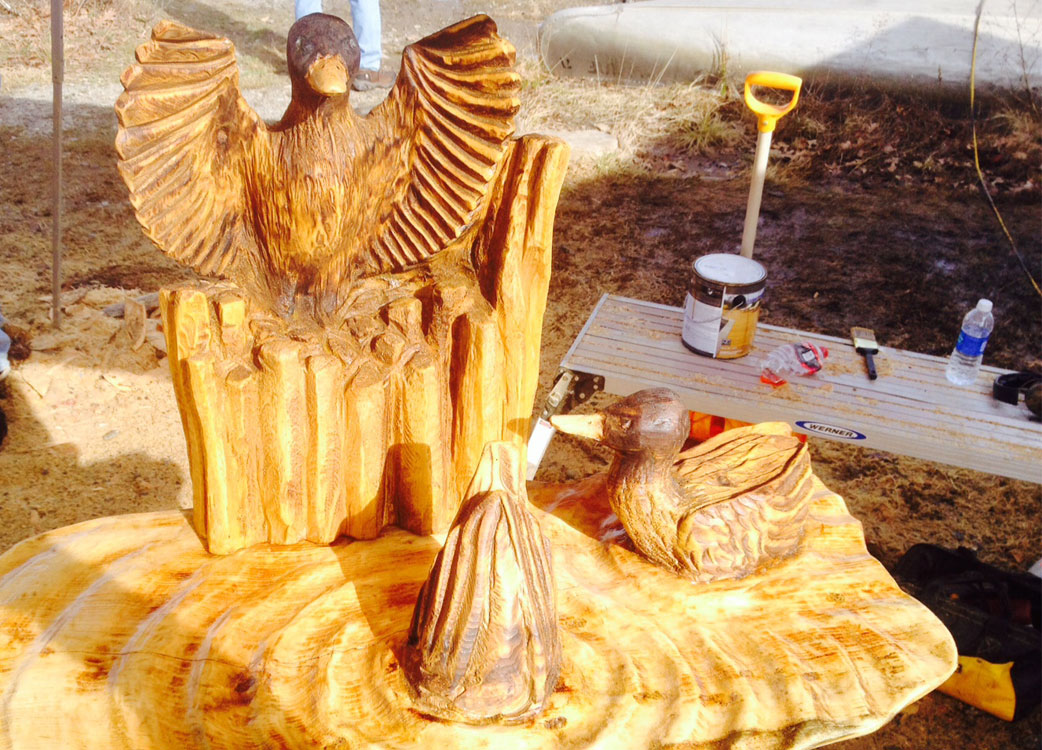 AM Sculptures- Duck Table