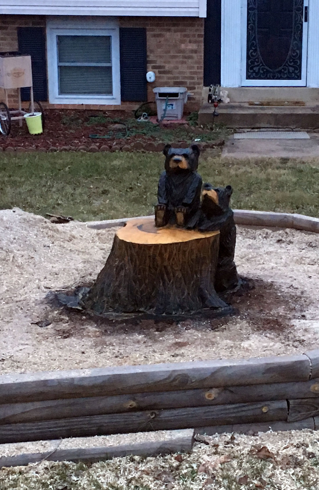 AM Sculptures- 2 Cub Stump