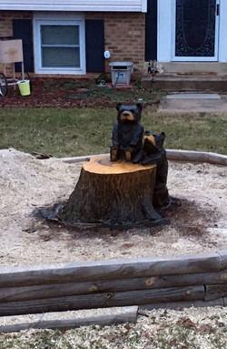 AM Sculptures- 2 Cub Stump