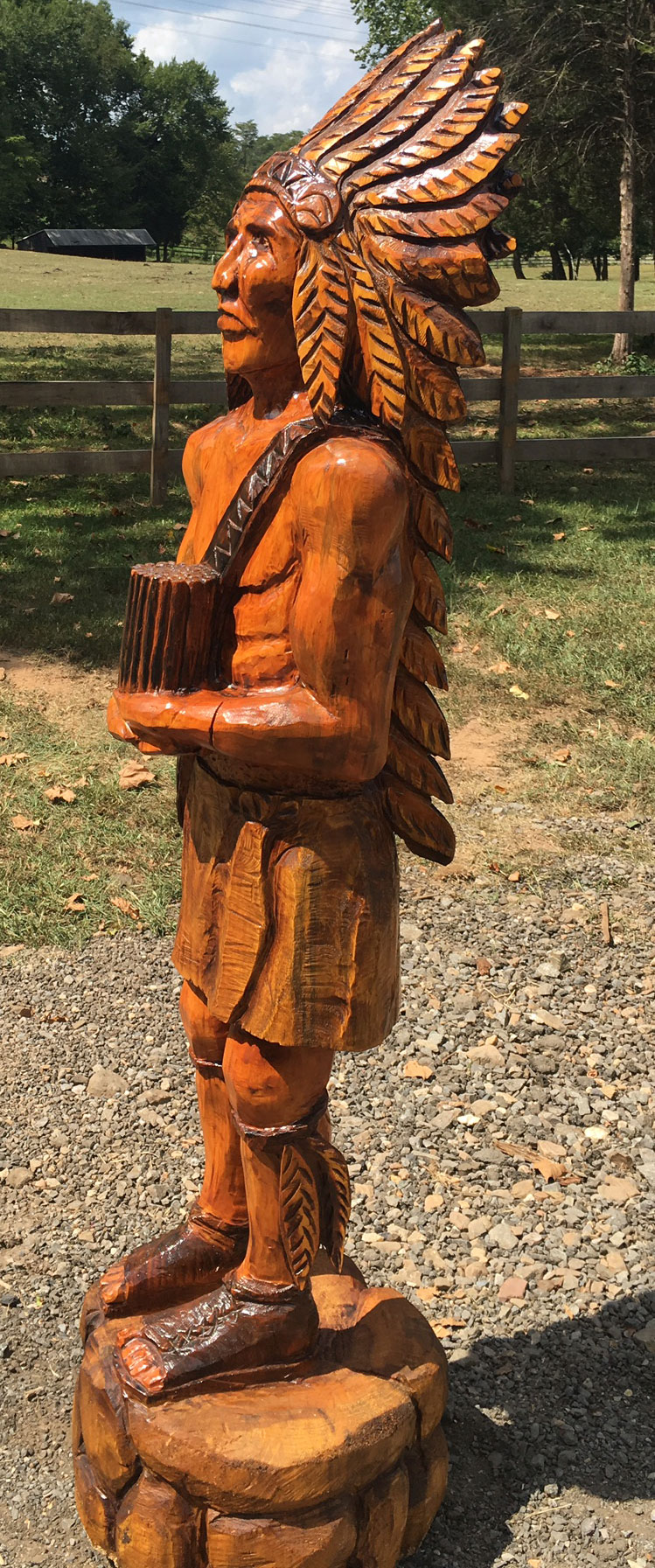 AM Sculptures- Cigar Shop Indian