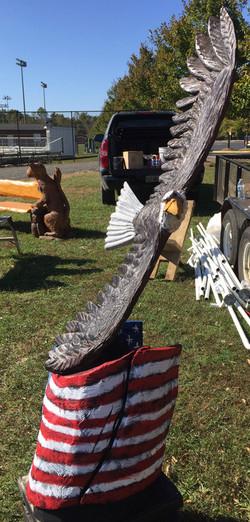 AM Sculptures- Soaring Eagle Flag