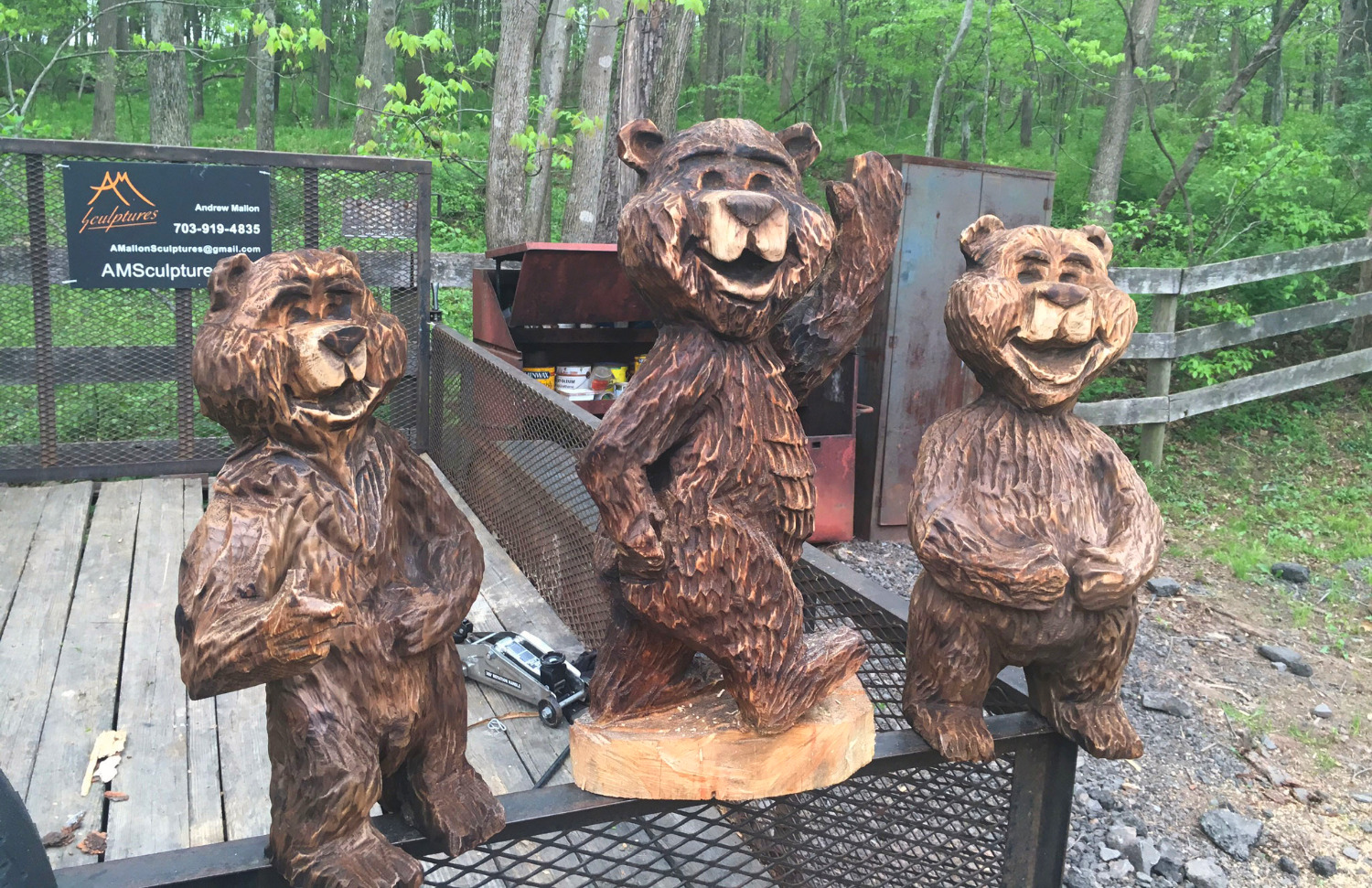 AM Sculptures- Happy Bears