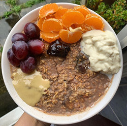 Oats with Fruits and Tahini