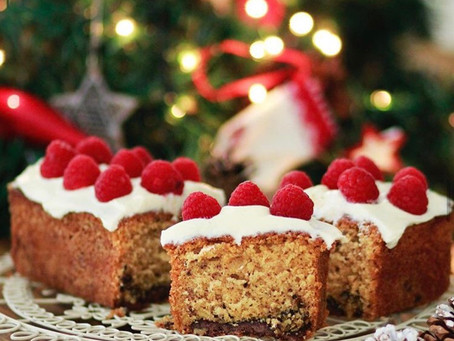 #Hazelnut christmas cake filled with Tahini with Cocoa