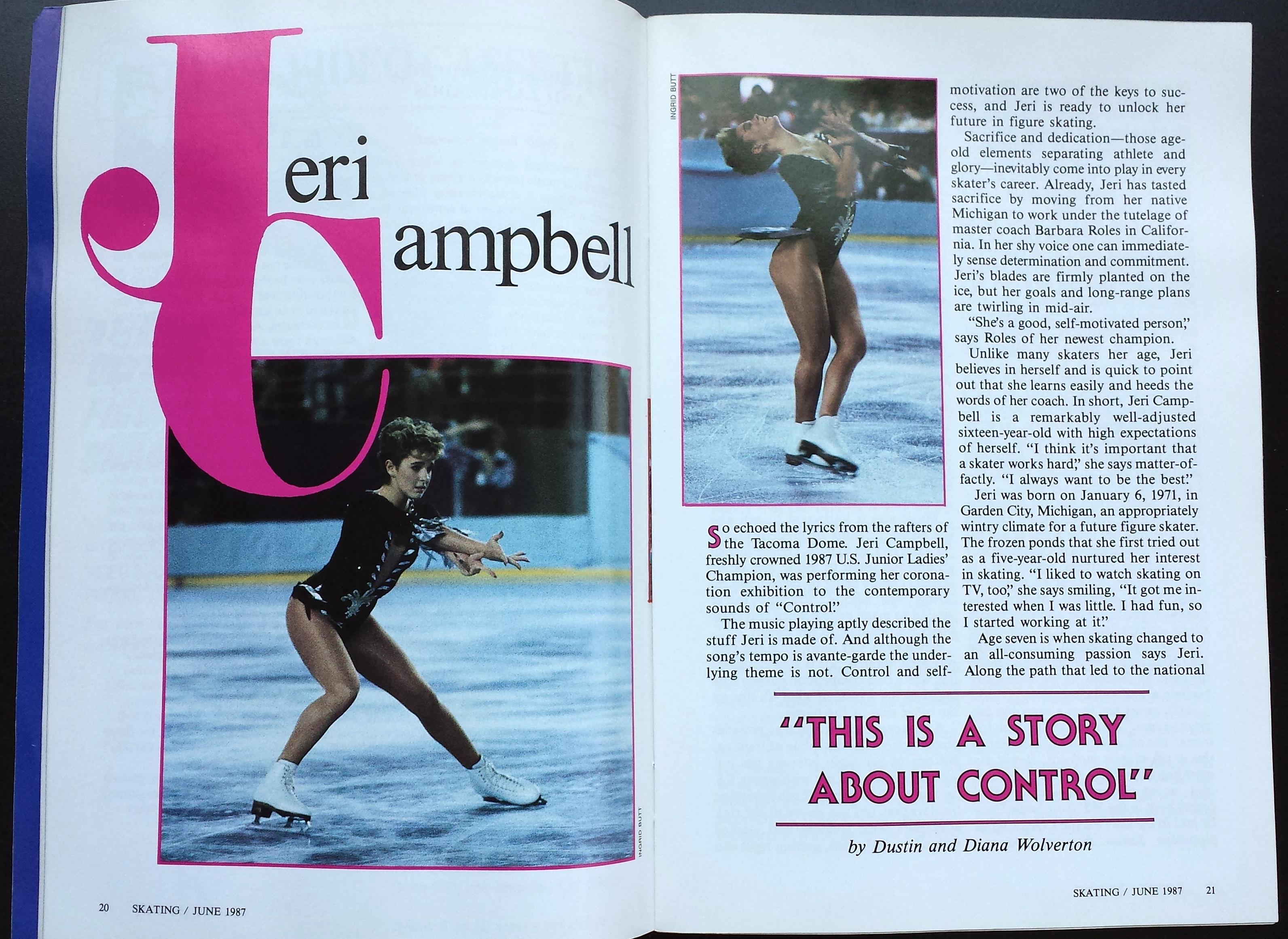 Skating Magazine Article June 1987