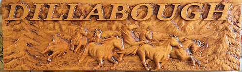 Personalized & Custom Made Wood Carved Name Plaque