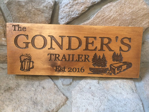Personalized Cottage & Trailer Sign