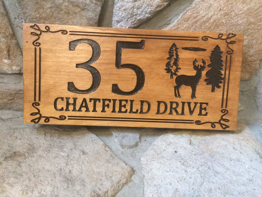 Engraved Personalized Address Plaque