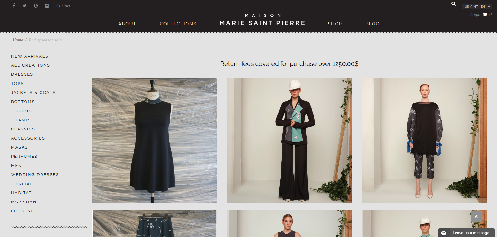 Marie Collection eCommerce