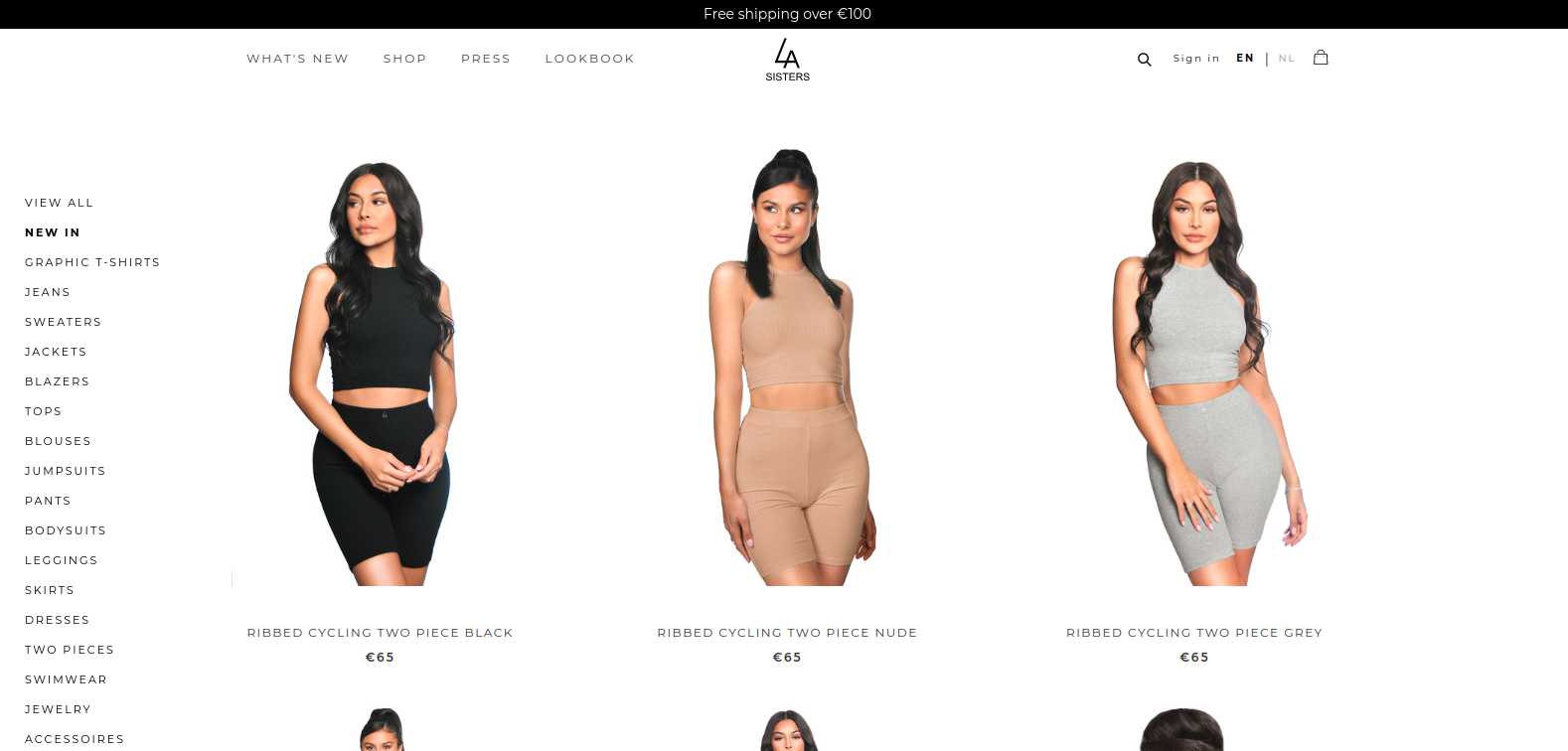 LASister ECommerce Page