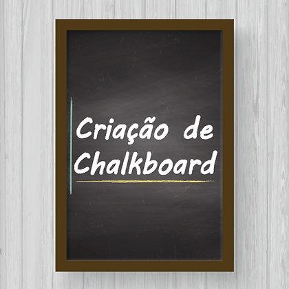Criação de Arte Personalizada para Chalkboard