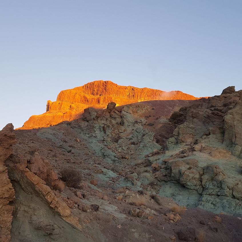 Sunset at Mt Teidi park