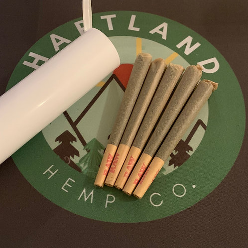 Cherry Wine 5-Pack Pre Rolls RAW Unbleached Cones