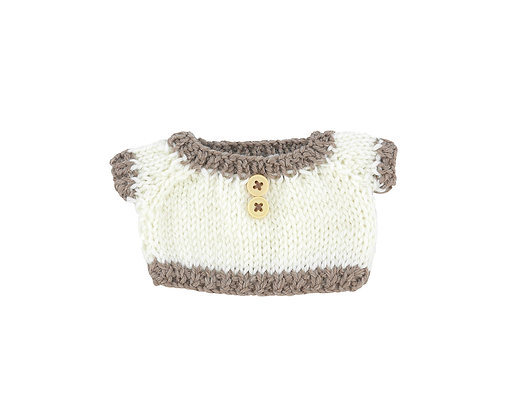 BW Two Tone Knit Ivory