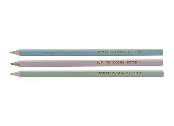 Bloomingville Pastel Pencils Set of 3
