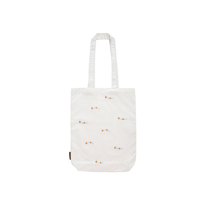 Caterpillar Embroidered Canvas Bag