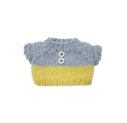 BW Two Tone Knit Blue & Yellow