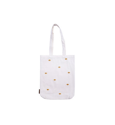 Bee Embroidery Tote Bag