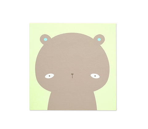 "Bear wood based canvas print 10x10"""