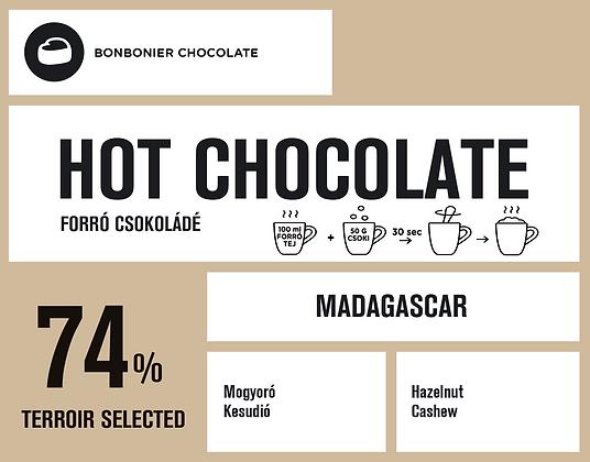 Madagaszkári forró csokoládé – 74%