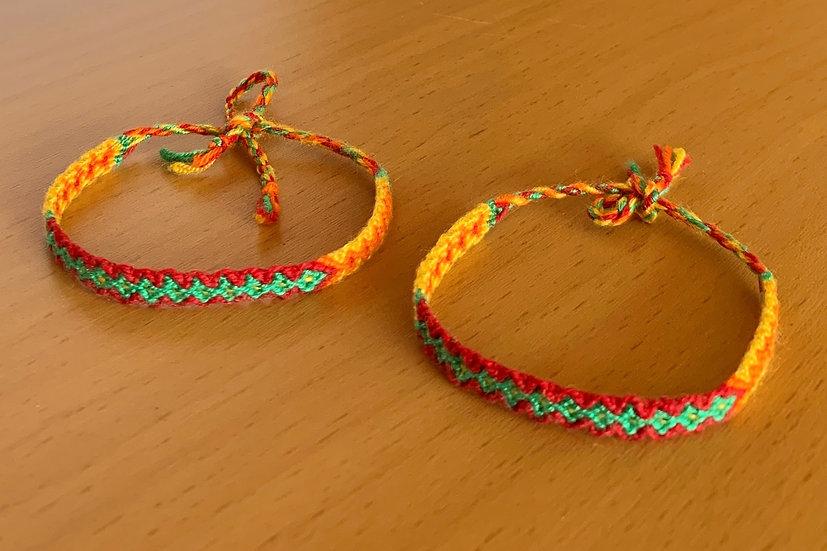 Friendship Bracelet Sunshine (Matching Pair)