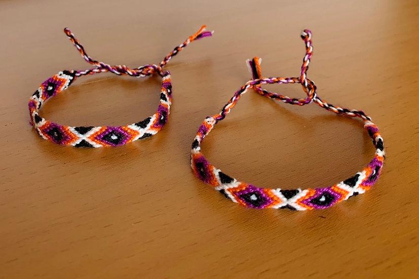 Friendship Bracelet Funky (Matching Pair)