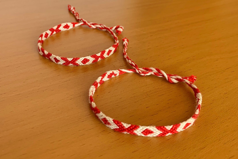 Friendship Bracelet Candy Cane (Matching Pair)