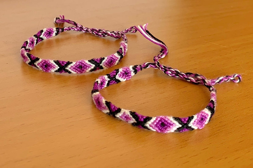Friendship Bracelet Purple Rain (Matching Pair)
