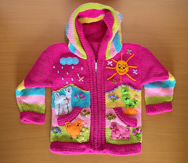 Children's Knit Sweater Pink
