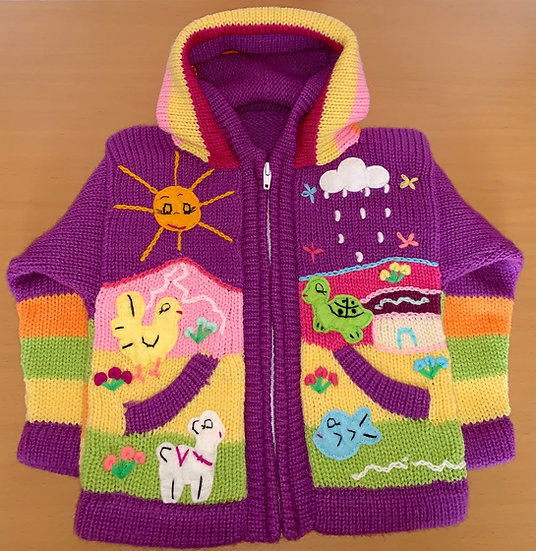 Children's Knit Sweater Purple
