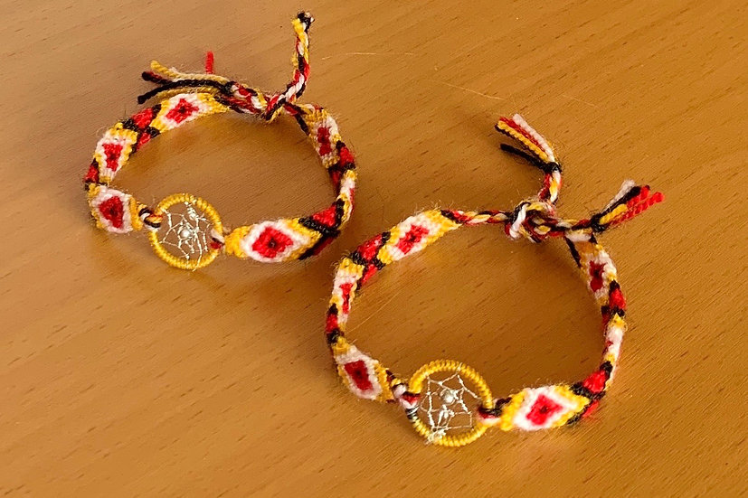 Friendship Bracelet Dreamcatcher (Matching Pair)