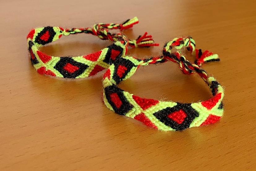 Friendship Bracelet Fire (Matching Pair)