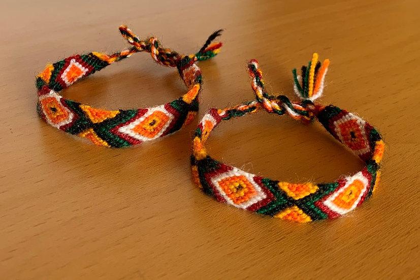 Friendship Bracelet Foliage (Matching Pair)