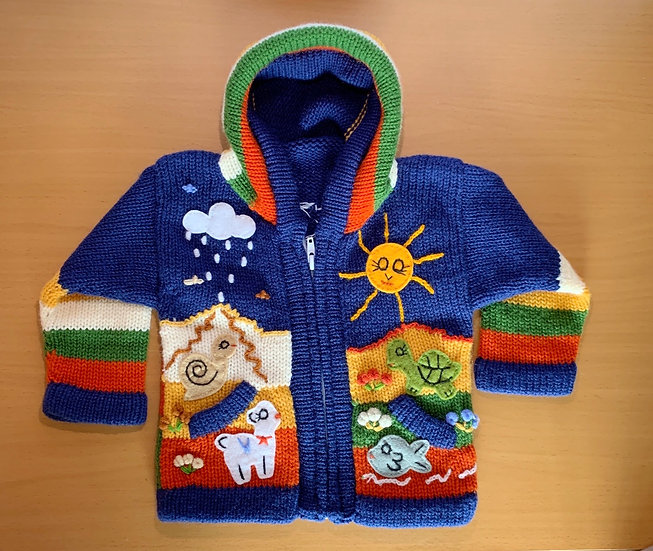 Children's Knit Sweater Navy Blue