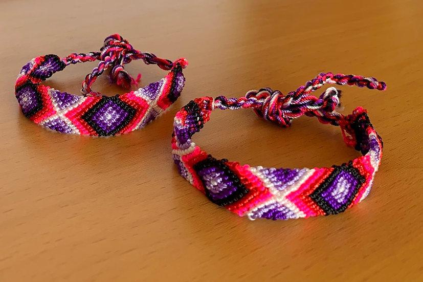 Friendship Bracelet Neon (Matching Pair)
