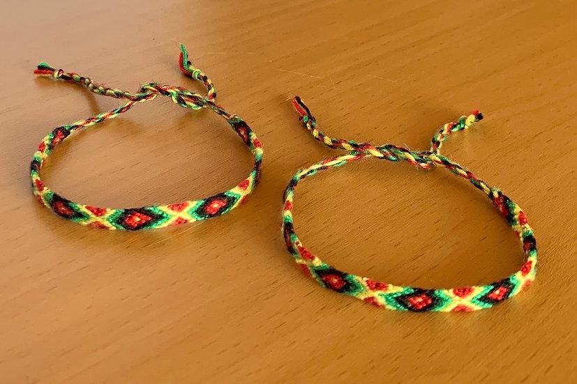 Friendship Bracelet Caribbean (Matching Pair)