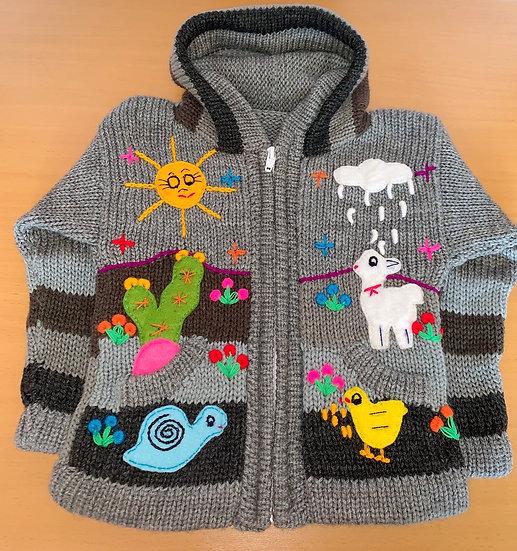 Children's Knit Sweater Grey