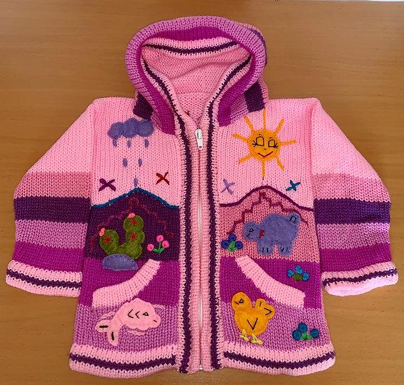 Children's Knit Sweater Light Pink