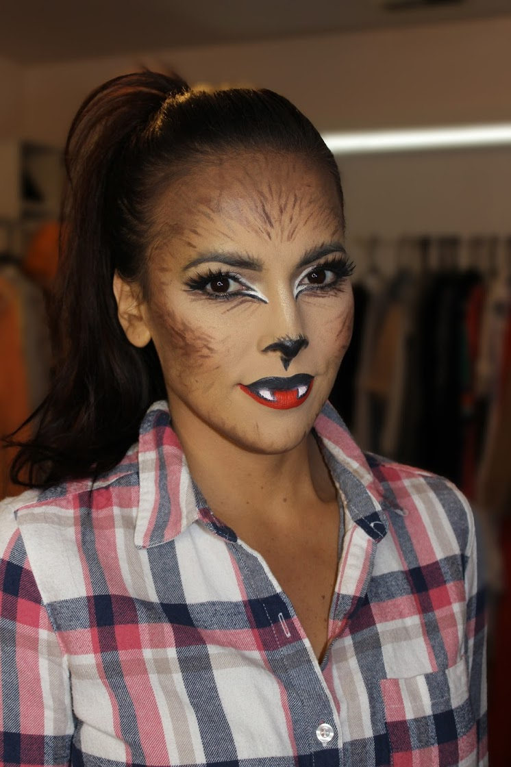 halloween werewolf costume womens plaid shirt