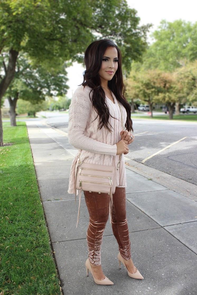 velvet leggings ideas outfit 2017
