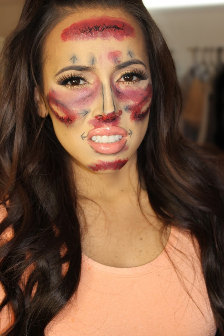 painful plastic surgery halloween makeup before after