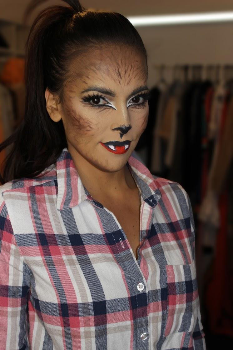girl werewolf halloween makeup