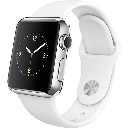 iWatch 38mm with White Sport Band MJ302
