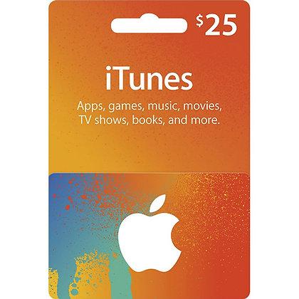 Apple iTunes Card - $25