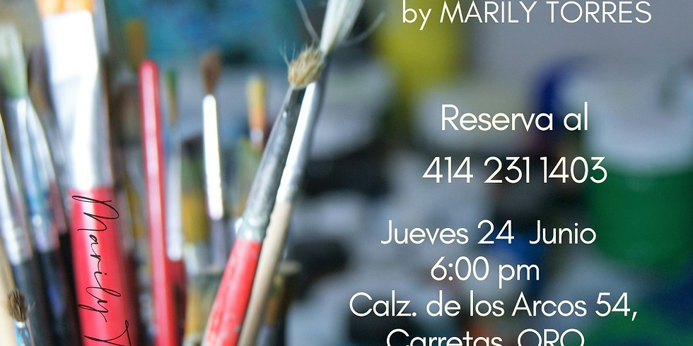 """ART CLASS """"PAINT WITH ME"""" by Marily Torres"""