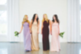 Bridemaids gowns at She Said Yes Bridal in Arkansas