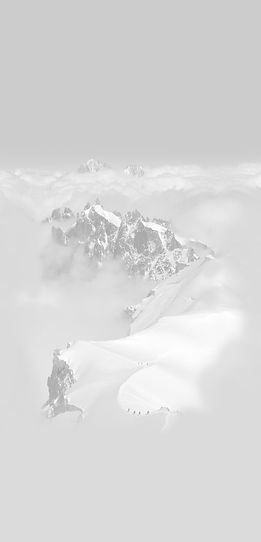 Mountain covered in snow as dowsing and divining peak of earth energies